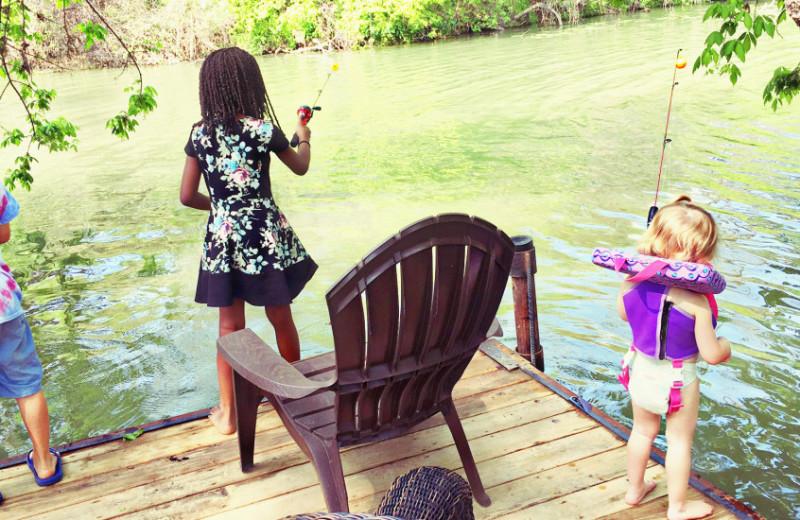 Fishing at Sons Island at Lake Placid.