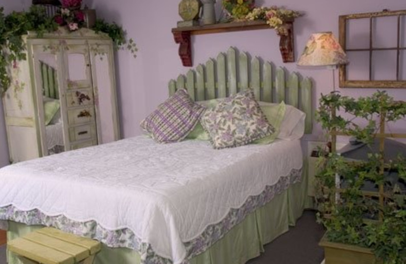 Lavender Green room at The Garden Walk Bed & Breakfast Inn.