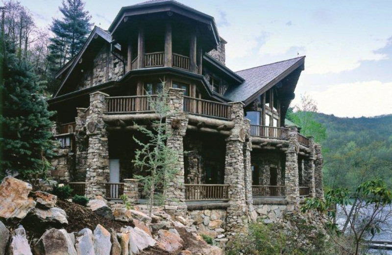 Exterior view of Forge Lake Lodge.