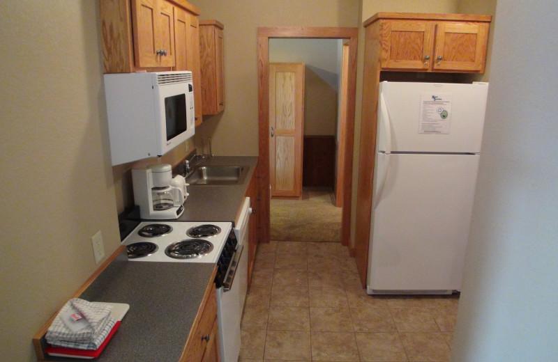 Guest kitchen at Kavanaugh's Sylvan Lake Resort.