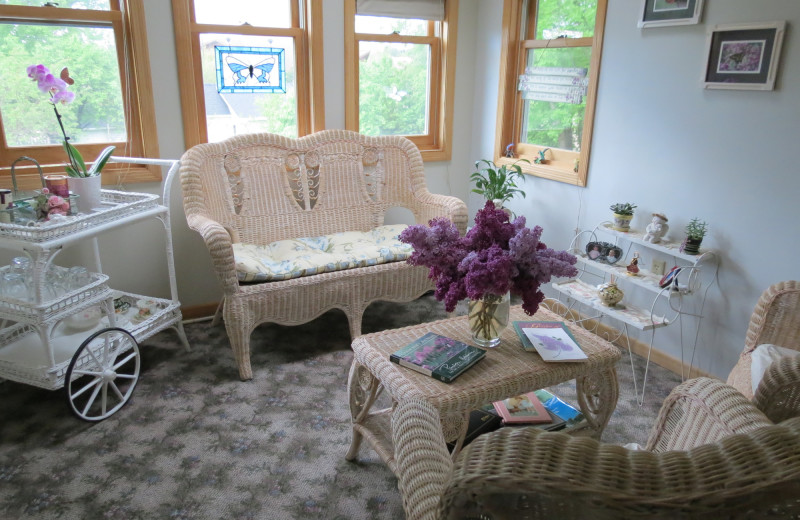 Living room at Lilac Village Bed