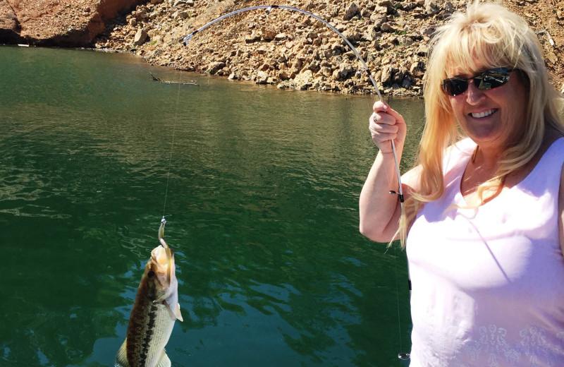Fishing at Tsasdi Resort.