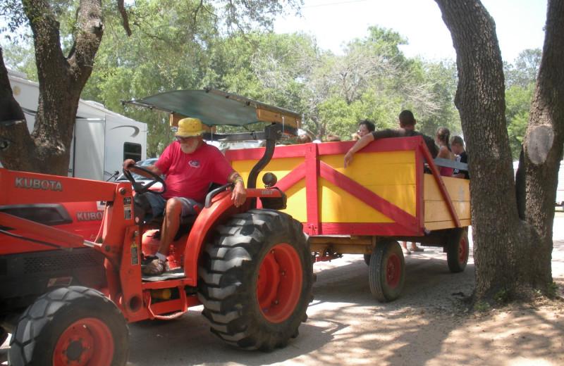 Tractor at Lone Star Jellystone.