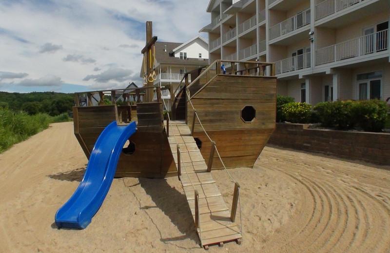 Children's playground at The Cherry Tree Inn & Suites.