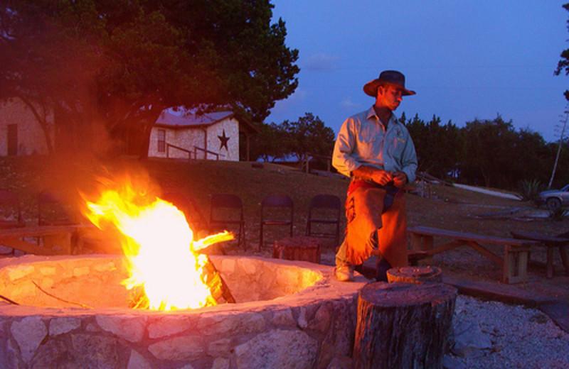Bonfire at Rancho Cortez.