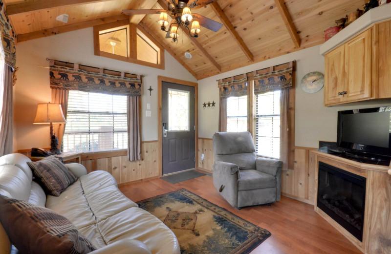 Guest living room at Mill Creek Ranch Resort.