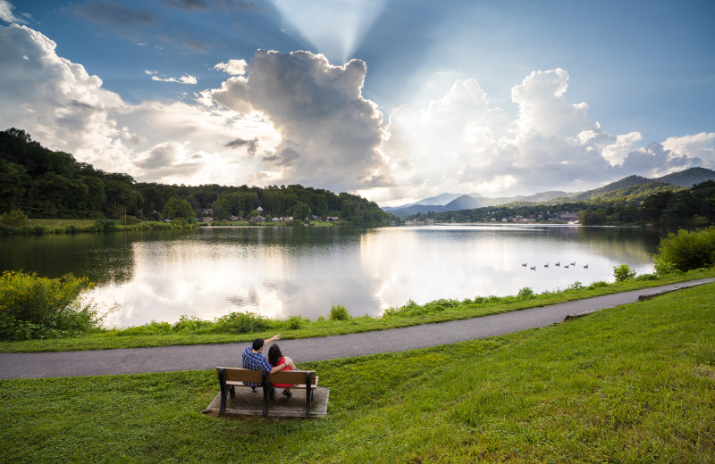 Take a break and enjoy the natural beauty of Lake Junaluska.