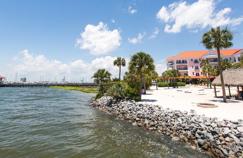 Beach at Charleston Harbor Resort and Marina.