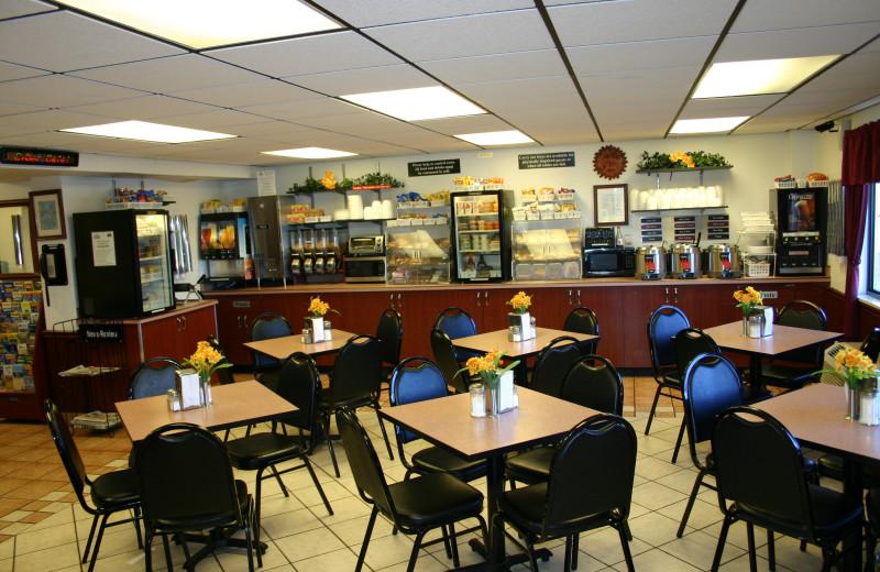 Dining at @ Michigan Inn and Lodge.