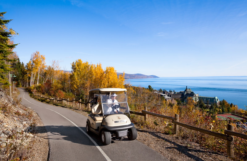 Golf carts at Fairmont Le Manoir Richelieu.