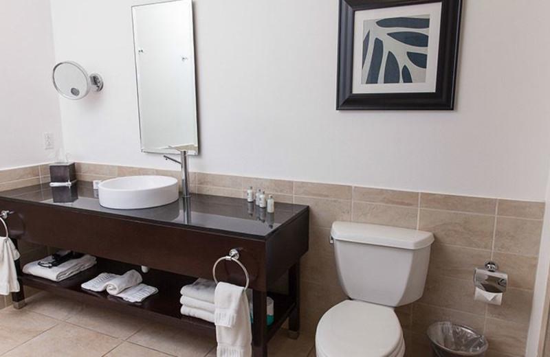 Guest bathroom at La Torretta Lake Resort & Spa.