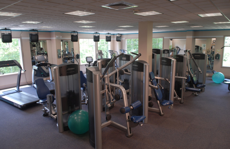 Fitness room at The Spa at Norwich Inn.
