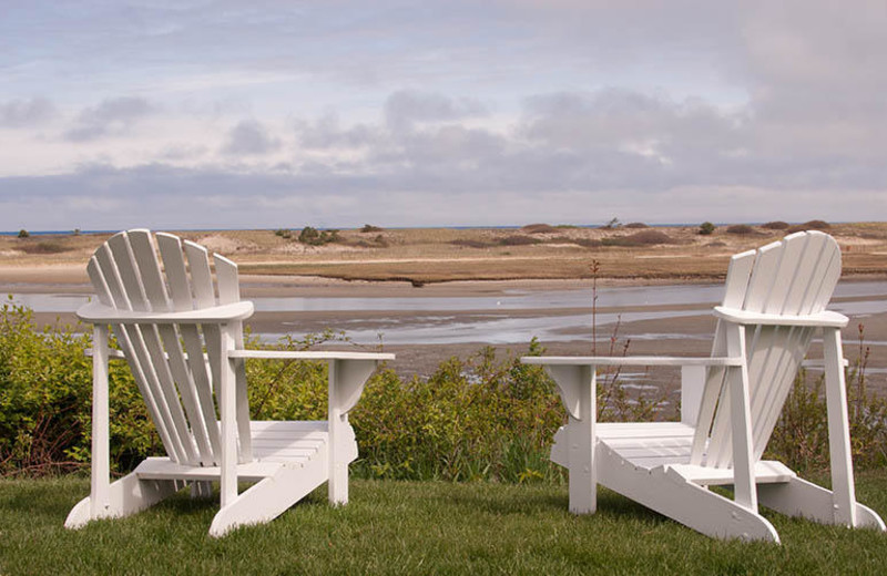 Chairs with view at The Dunes on the Waterfront.