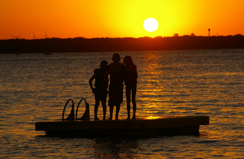 Catch the sunset over the waters of West Lake Okoboji