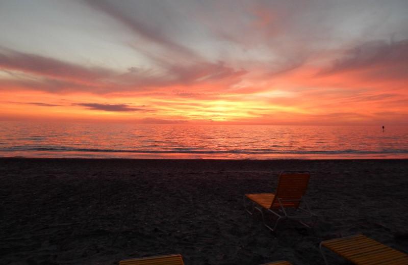 Sunset at Sea Oats Beach Club.