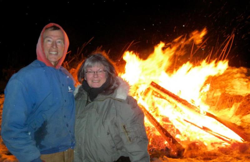Campfires at Angle Inn Lodge.