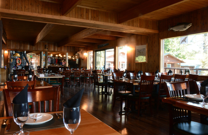 Dining at The Fireweed Lodge.