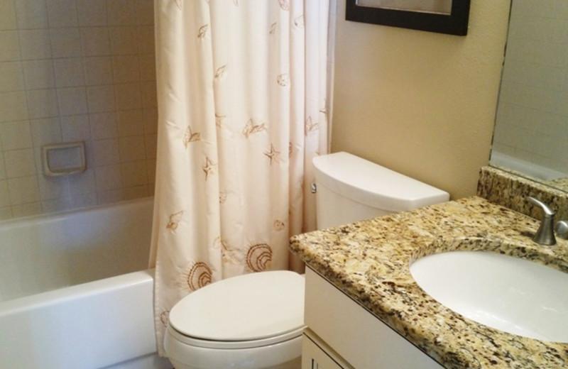 Guest bathroom at Caprice Resort.