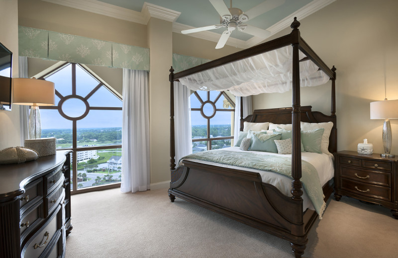 Penthouse bedroom at North Beach Plantation.