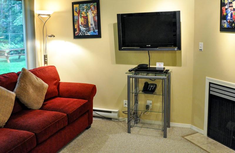 Guest living room at Ocean Trails Resort.