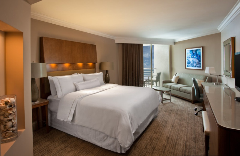King bedroom at  The Westin Hilton