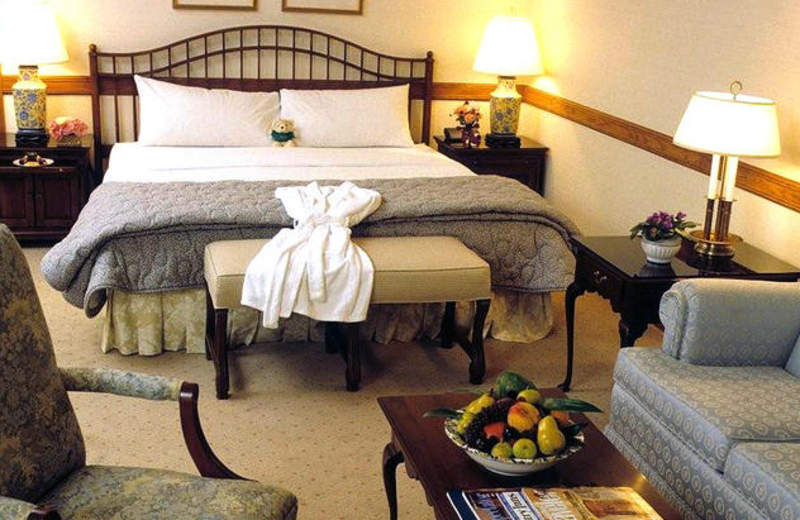 Guest room at Stonehedge Inn and Spa.
