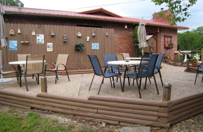 Patio at Rocky Branch Resort.