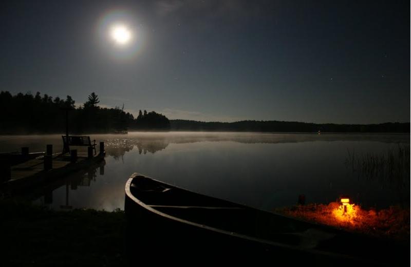 Lake view at Mystic Moose.