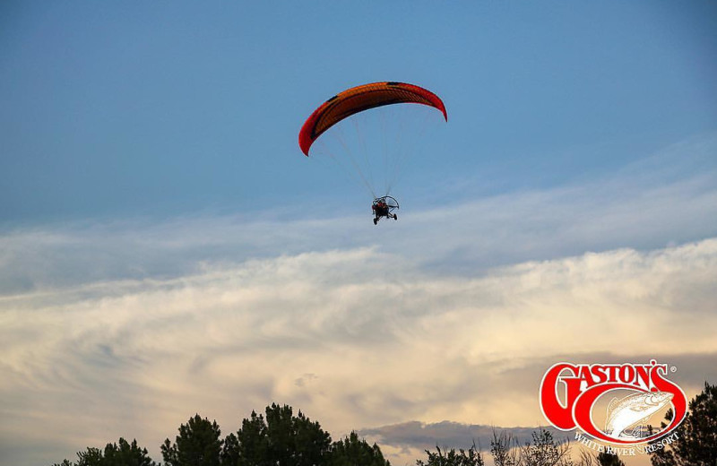 Hang gliding at Gaston's White River Resort.