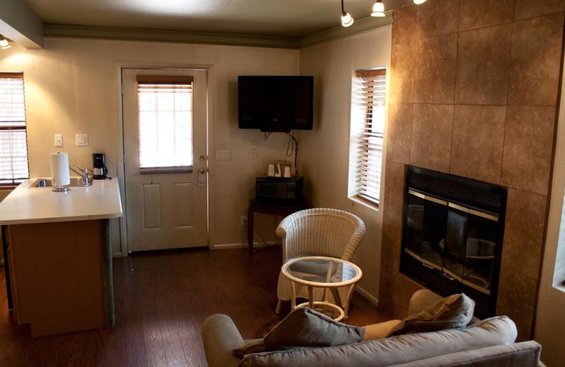 Cabin interior at Old Creek Resort.