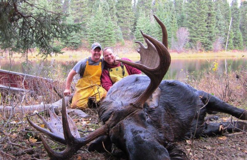 Moose hunting at Burntwood Lake Lodge.