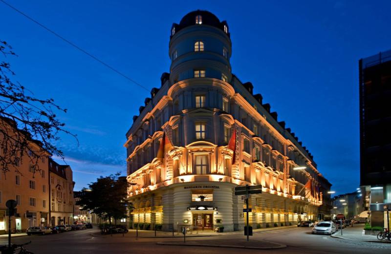 Exterior view of Mandarin Oriental, Munich.