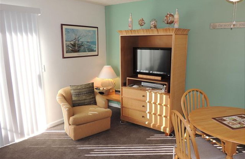 Vacation rental living room at Myrtle Beach Vacation Rentals.