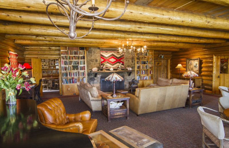 Lodge lobby at C Lazy U Ranch.