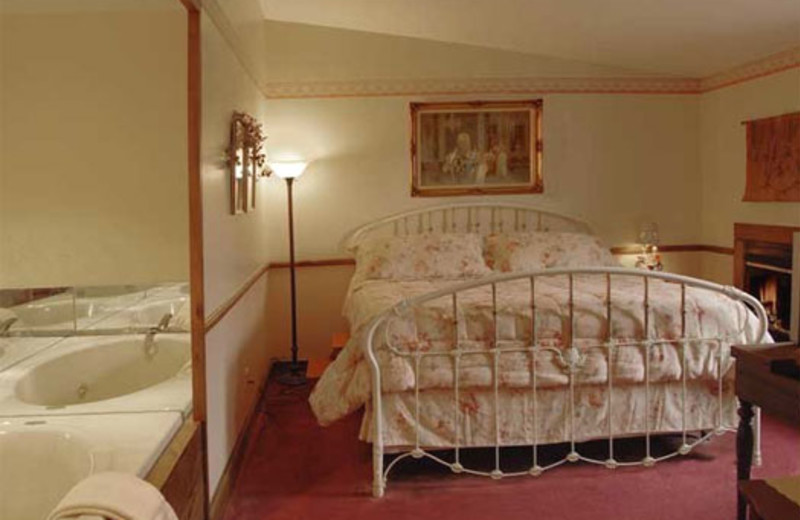 Guest room at Historic Afton House Inn.