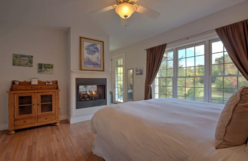 Rental bedroom at Carolina Mornings.