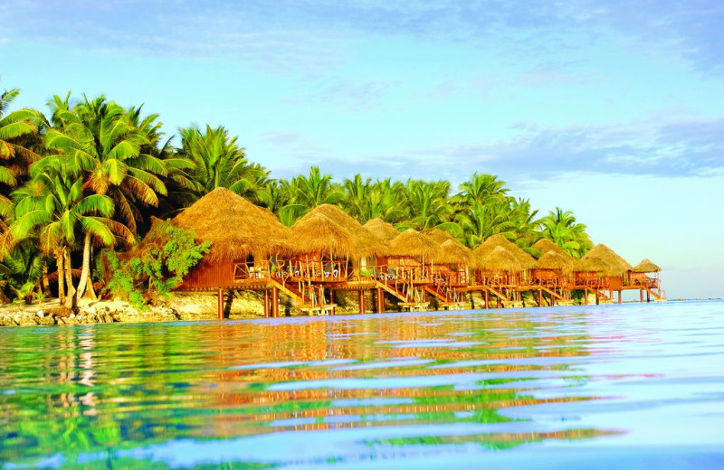 Exterior view of The Aitutaki Lagoon Resort & Spa.