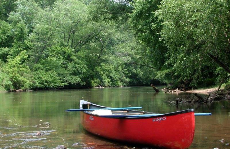 Canoeing near Dahlonega Spa Resort.