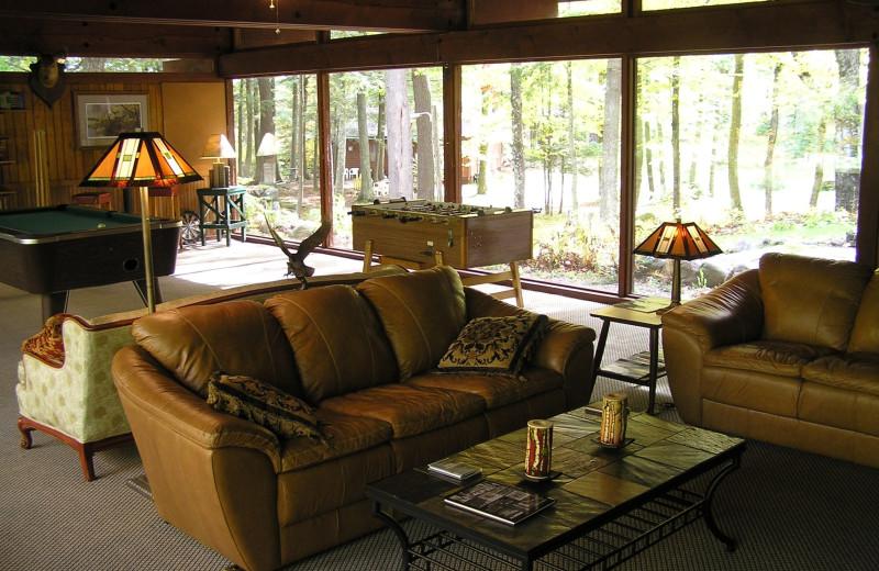 Interior view at Ghost Lake Lodge.