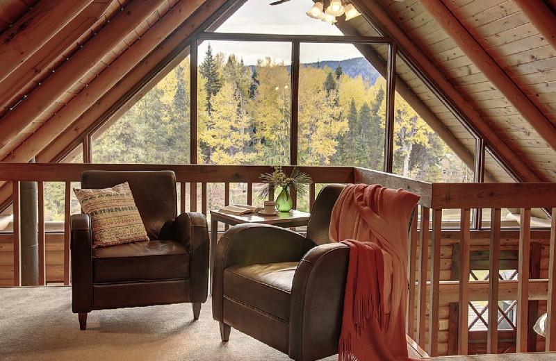 Cabin loft at Natapoc Lodging.