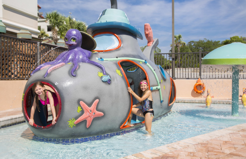 Splash pad at Caribbean Resort & Villas.