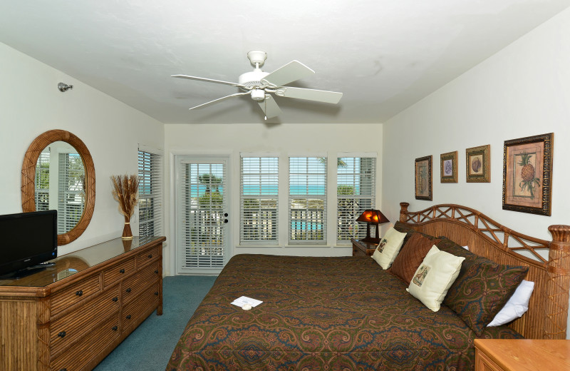 Guest bedroom at Palm Island Resort.