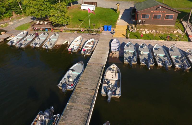 Dock at Manotak Lodge.