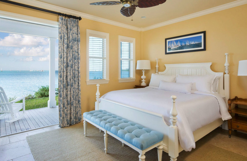 Cottage bedroom at Sunset Key Guest Cottages, a Luxury Collection Resort.