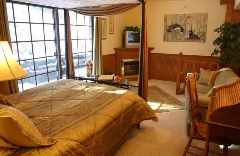 Guest room at Pearson's Pond Luxury Inn and Adventure Spa.