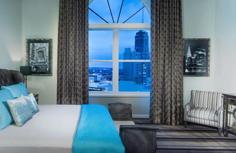 Guest room at Hyatt Regency Buffalo/Hotel and Conference Center.