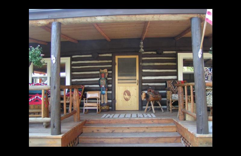 Cabin exterior at Rimrock Dude Ranch.