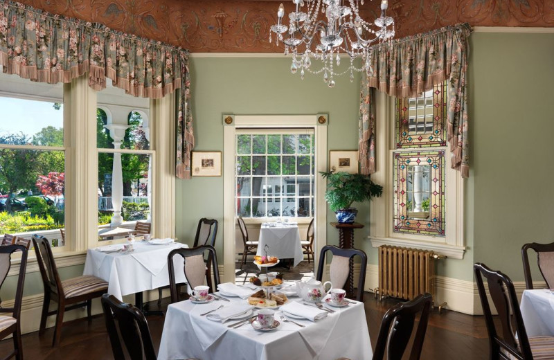 Tea room at Pendray Inn & Tea House.