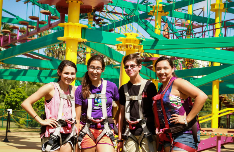 Zip line at Moody Gardens Hotel Spa & Convention Center.