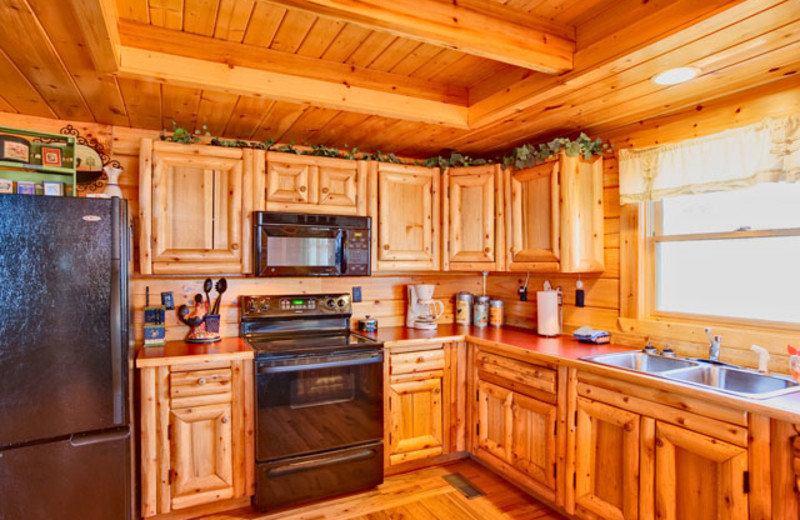 Kitchen at Alpine Mountain Chalets.